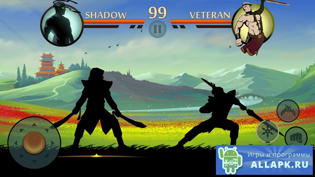 скачать игру shadow fight 2 много денег на андроид на русском